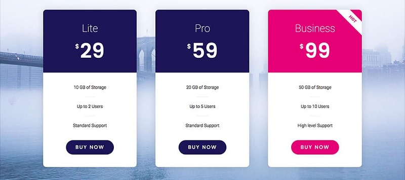 Elementor Pro: Pricing Table
