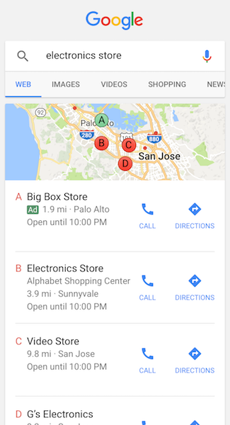 Local Listing on Google Search