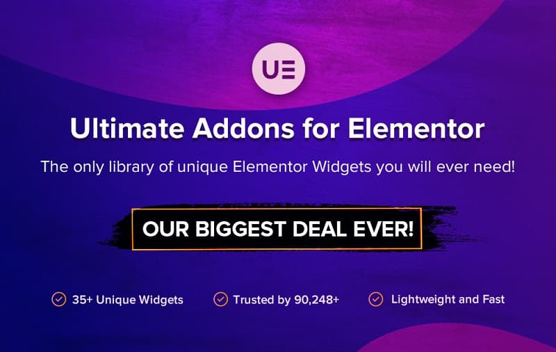 Ultimate Addons for Elementor Black Friday Sale 2021 - 30% Discount on All Plans