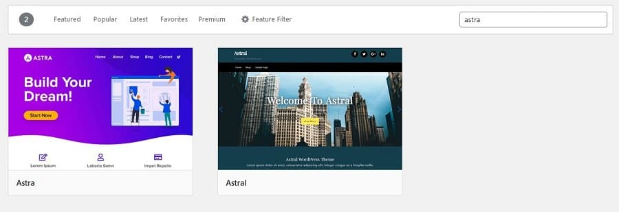 How to Start a Blog: Install Astra Theme