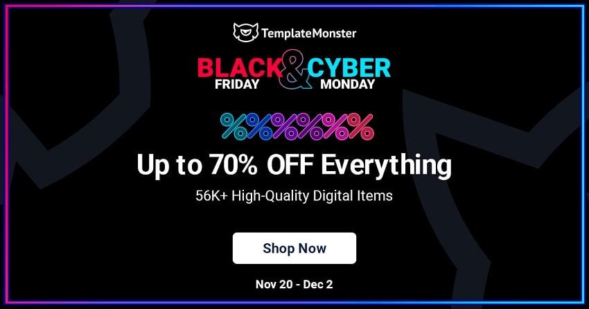 TemplateMonster Black Friday Sale, Live Now!