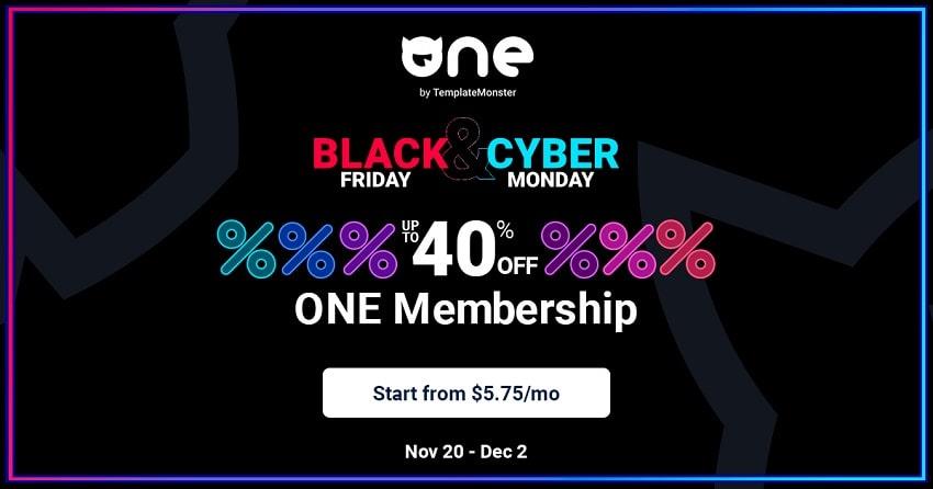 TemplateMonster Black Friday - Membership Discounts!